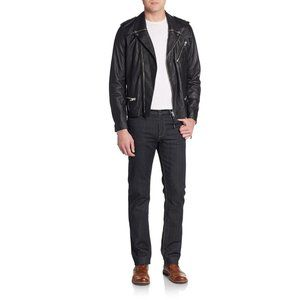 NEW The Kooples Lightweight Leather Moto Jacket